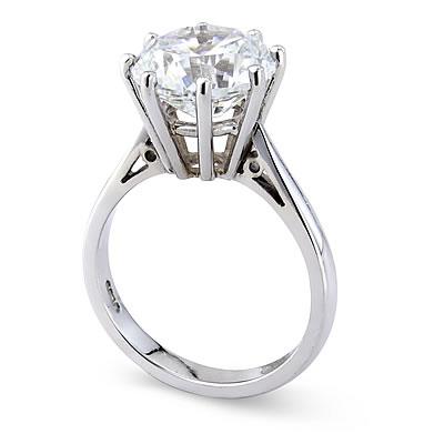 Bague a diamant solitaire